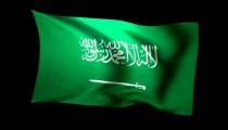 3D Rendering of the flag of Saudi Arabia waving in the wind.