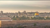 Time-lapse of the Dome of the Rock from the Mount of Olives.