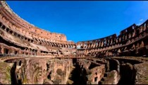 Time-lapse shot from inside the Colosseum.