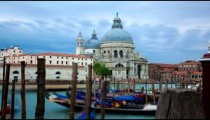 Time-lapse of Santa Maria della Salute from Saint Mark's Square.