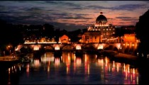 Sunset time-lapse of the Vatican City, from across the Tevere River.