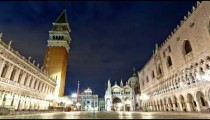 Nigthtime Saint Mark Square time-lapse in the square.