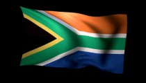 3D Rendering of the flag of South Africa waving in the wind.