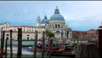 Time-lapse of Santa Maria della Salute from Piazza San Marco.