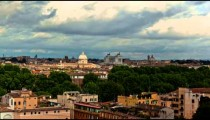 Time-lapse of the Roman skyline with the Vittoraino in the background.