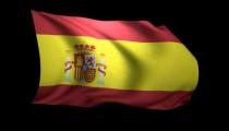 3D Rendering of the flag of Spain waving in the wind.