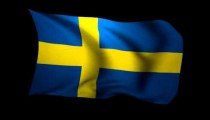 3D Rendering of the flag of Sweden waving in the wind.