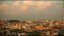 Time-lapse of the Roman skyline at sunset.