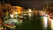 Time-lapse of the Grand canal from Rialto bridge.