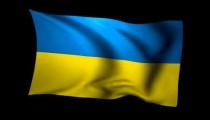 3D Rendering of the flag of Ukraine waving in the wind.