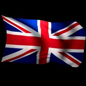 3D Rendering of the flag of the United Kingdom waving in the wind.
