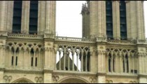 Royalty Free Stock Footage of Zoom out shot of the Notre Dame Cathedral in Paris, France.