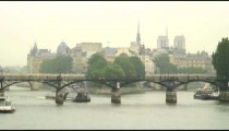 Royalty Free Stock Footage of Ferries on the River Seine in Paris, France.