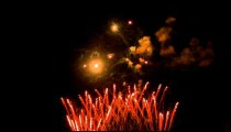 Royalty Free Stock Footage of Shot of fireworks exploding in the night sky.