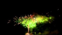 Royalty Free Stock Footage of Clip of fireworks exploding in the night sky.