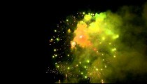 Royalty Free Stock Footage of Fireworks in the night sky.