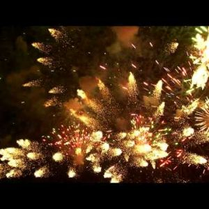 Royalty Free Stock Footage of Shot of pyrotechnics in the night sky.
