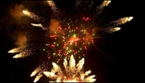 Royalty Free Stock Footage of Night sky with fireworks exploding.