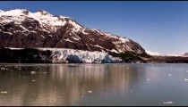 Time-lapse moving through Glacier Bay, Alaska on a cruise ship.
