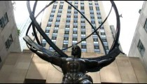 Atlas statue at Rockefeller Center in New York City.