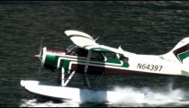 Shot of a floatplane speeding up and taking off on June 5, 2009 in Ketchikan, Alaska.