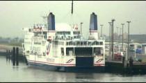 SeaFrance ferry at a marina dock.