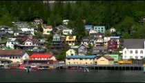 Ketchikan buildings from a ship