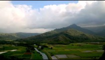 Time-lapse of the Hanalei Lookout on Kauai, Hawaii.