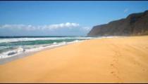 Time-lapse of the Polihale State Park on Kauai, Hawaii.
