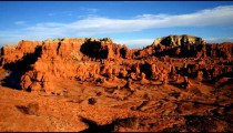Time-lapse of clouds passing over Goblin Valley in Utah.