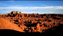 Time-lapse of clouds over Goblin Valley in Utah.