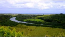Time-lapse of the Wailua River in Kauai, Hawaii.
