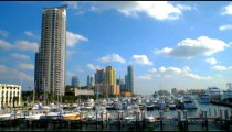 Time-lapse of a harbor in Miami, Florida.
