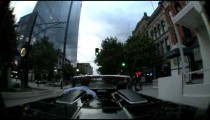 Time-lapse of a convertible driving through Salt Lake City, Utah.