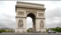Time-lapse of the Arc de Triomphe in Paris, France.