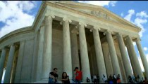 Time-laps of the Jefferson Memorial in Washington, D.C.