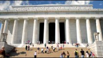 Time-lapse of the Lincoln Memorial in Washington, D.C.