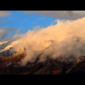 Time-lapse of clouds moving over the Wasatch Mountains in Utah.