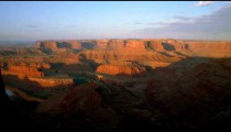 Time-lapse of the sun rising over Dead Horse Point.