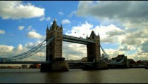Time-lapse of the clouds over the Tower Bridge in London.