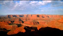 Time-lapse of the sun rising over the desert canyon at Dead Horse Point.