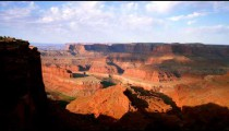 Partially shadowed canyons of Dead Horse Point in Utah.