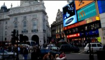 Time-lapse of the intersection at Piccadilly Circus in London.