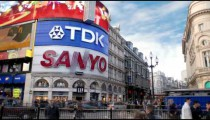 Time-lapse of Piccadilly Circus in London.