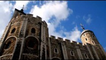 Time-lapse looking up at the Tower of London.