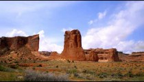 Time-lapse of rock tower at Arches National Park.