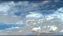 Time-lapse of thin clouds in the blue sky.