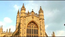 Time-lapse of a cathedral tower.