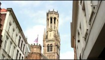 Time-lapse of clouds over a clock tower in Bruges, Belgium.