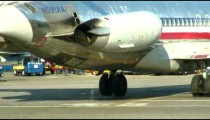 Airplane taxiing before takeoff.